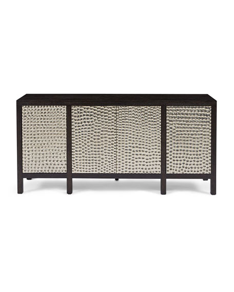 Beauville Silver-Wrapped Entertainment Console
