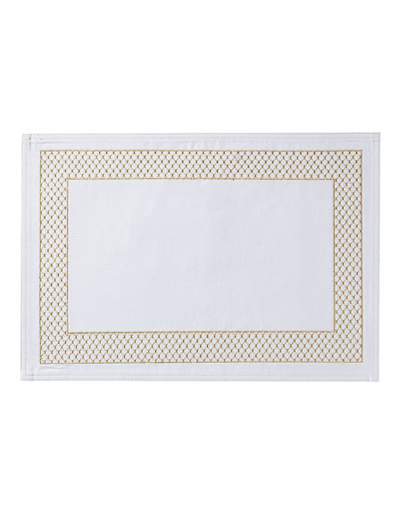 Netta Placemat, White/Champagne