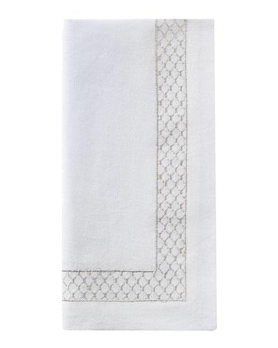 Netta Napkin, White/Silver