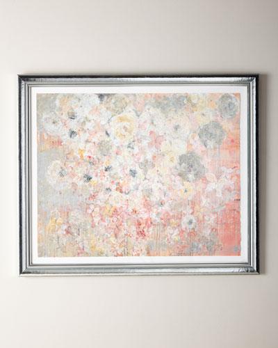 Pink Butterflies Giclee, 40 x 48
