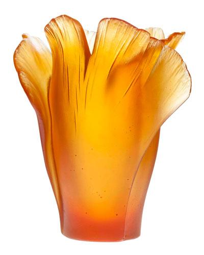 Medium Ginko Vase, Amber
