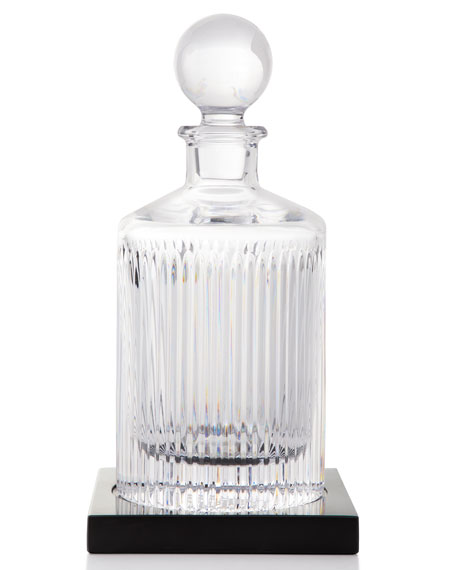 Waterford Crystal Aras Round Decanter with Marble Coaster