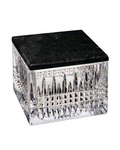 Lismore Diamond Covered Box with Marble Lid