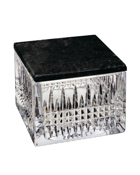 Waterford Crystal Lismore Diamond Covered Box with Marble