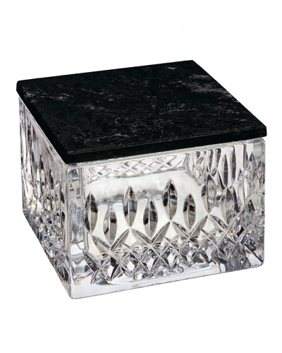 Lismore Opulence Covered Box with Marble Lid