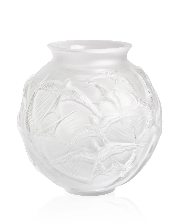 Lalique hirondelles medium vase clear neiman marcus reviewsmspy