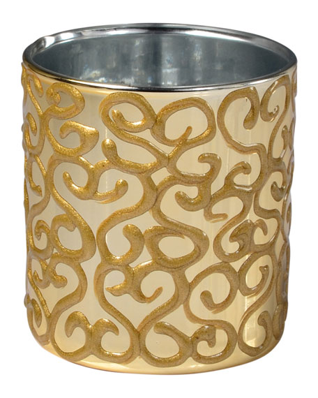 Mike & Ally Jamila Glass Tumbler, Golden