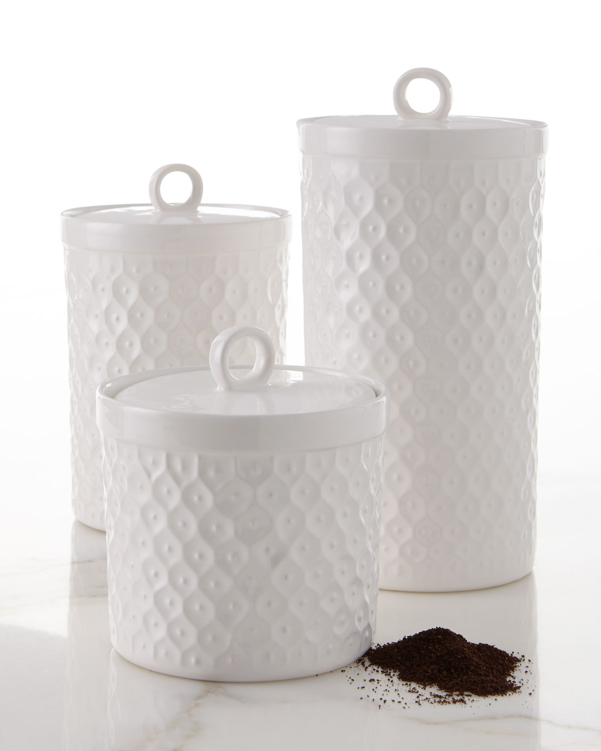 Neiman Marcus Assorted Canisters Set Of 3 Neiman Marcus