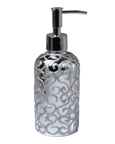 Jamila Glass Pump, Silver