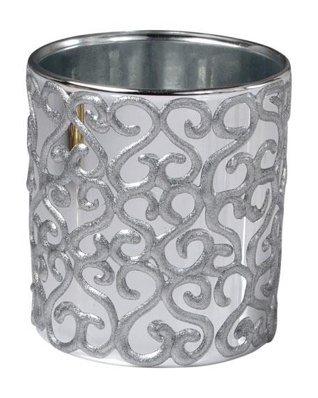 Jamila Glass Tumbler, Silver
