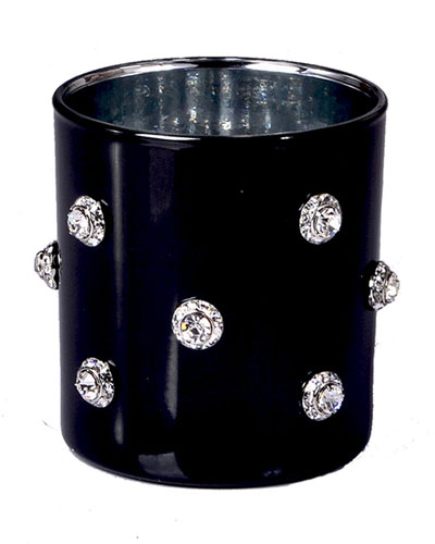 Mike & Ally Nova Glass Tumbler with Stones, Black