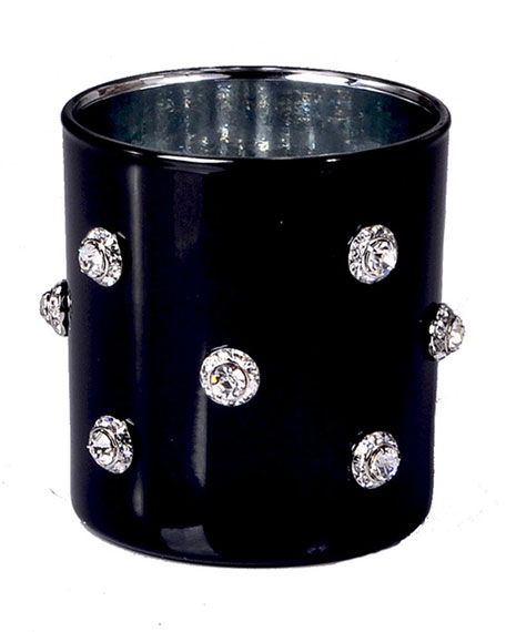 Nova Glass Tumbler with Stones, Black