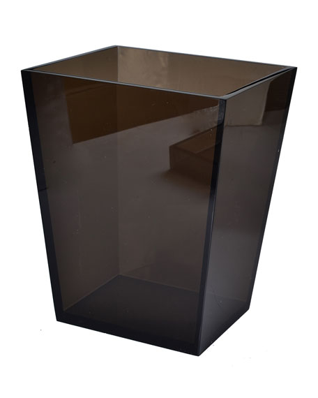 Smocked Ice Lucite Wastebasket