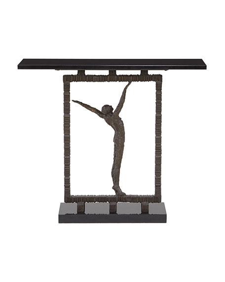 Bronze Statuesque Console Table