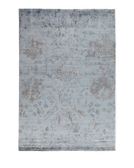 Jubilant Sky Hand-Knotted Rug, 2.3' x 8'
