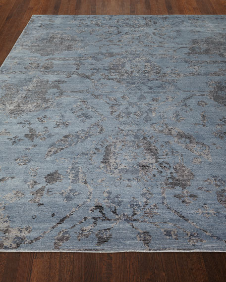 Jubilant Sky Hand-Knotted Rug, 5.6' x 7.6'