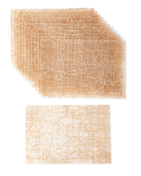 Tangle Placemats, Beige, Set of 12