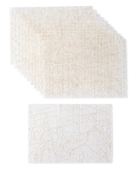 Kim Seybert Metallic Tangle Placemats, Set of 12