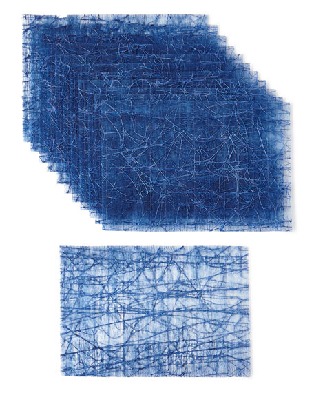 Kim Seybert Tangle Placemats, Blue, Set of 12