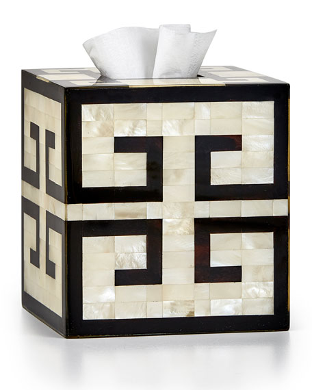Labrazel Greek Key Tissue Box Cover and Matching