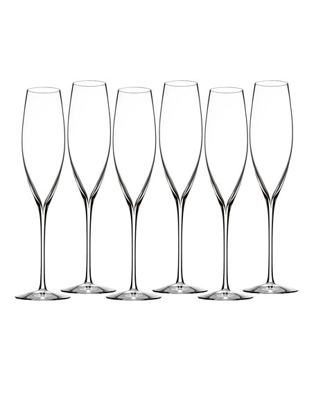 Waterford Crystal Elegance Classic Champagne Flutes, Set of