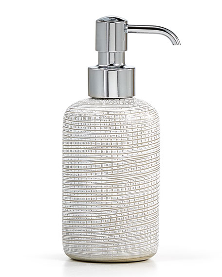 Woven Pump Dispenser, Platinum