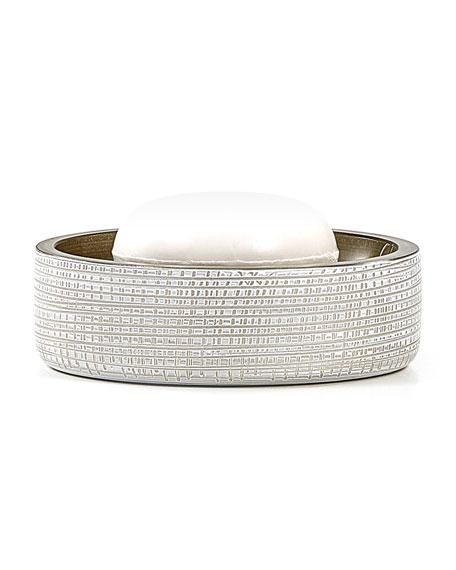 Woven Soap Dish, Platinum
