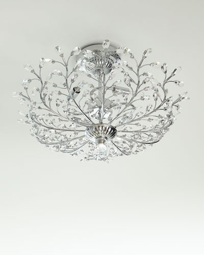 Monaco Crystal Semi-Flush Mount Light Fixture