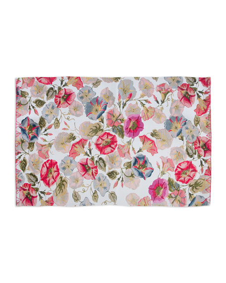 MacKenzie-Childs Morning Glory Mat, 2' x 3'