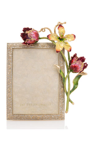 """Jay Strongwater Margery Flora Tulip Picture Frame, 5"""" x 7"""""""