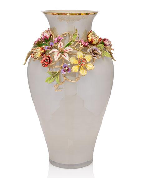 Jay Strongwater Flora Dutch Floral Vase