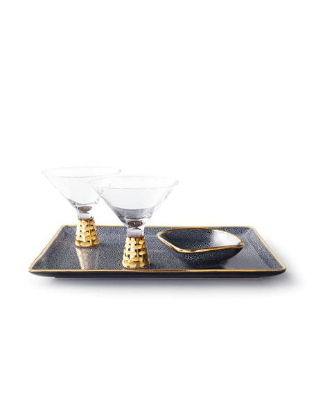 Truro Martini Glasses, Gold, Set of 2