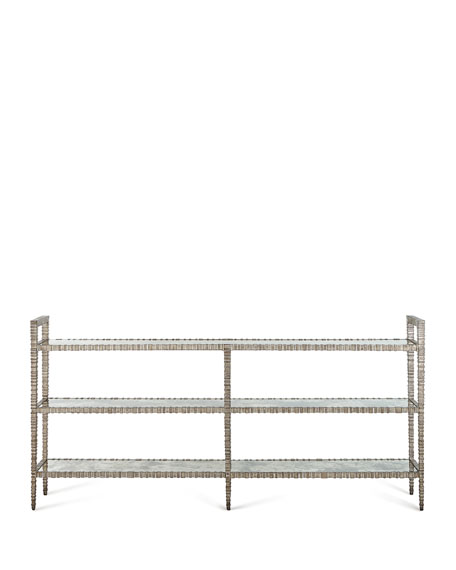 Lela 3-Tiered Mirrored Console
