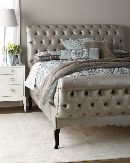 Duncan Fife Leather King Bed