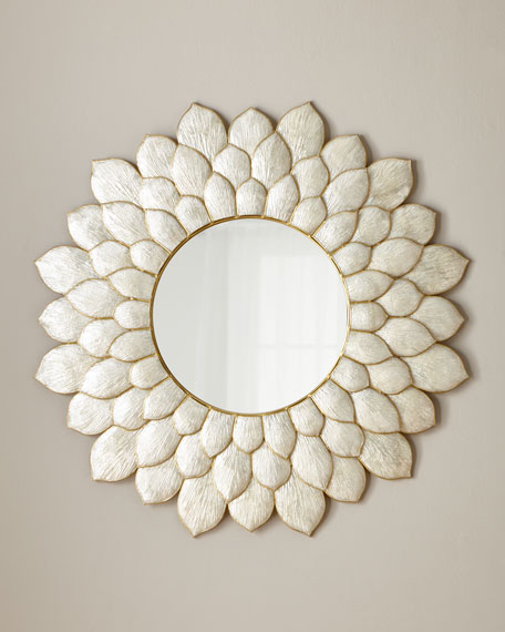 Petal Capiz Mirror