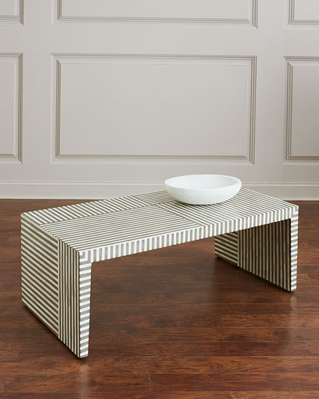 Farrah Rectangle Bone Inlay Coffee Table
