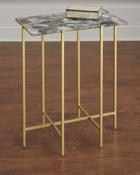 Blinn Agate Side Table, Gray