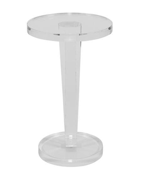 Lisette Acrylic Round Side Table