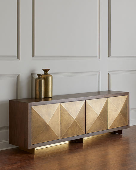 Oriole Brass Door Console