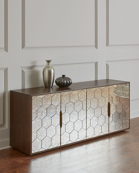 Ilsa Honeycomb Mirrored Console