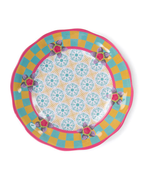 MacKenzie-Childs Florabundance Melamine Salad Plates, Set of 4