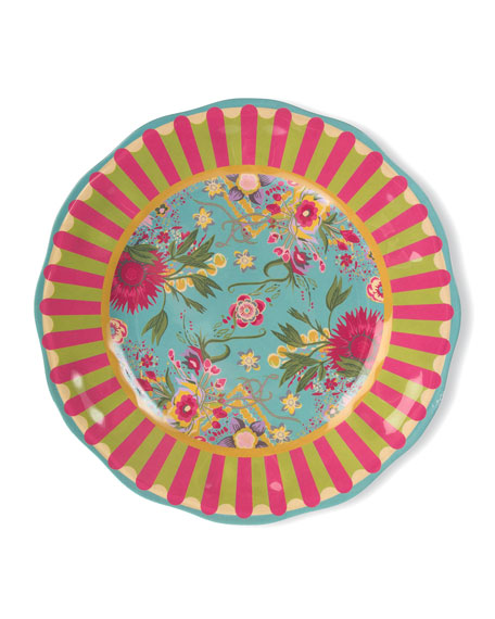 MacKenzie-Childs Florabundance Melamine Dinner Plates, Set of 4