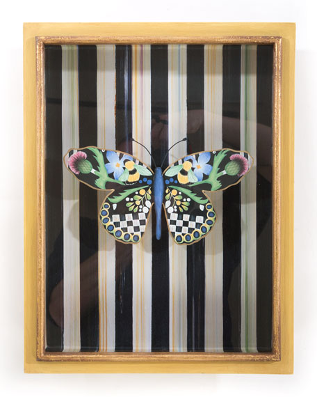 MacKenzie-Childs Butterfly Shadow Box and Matching Items