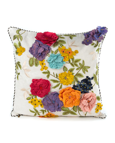 Covent Garden Floral Square Pillow