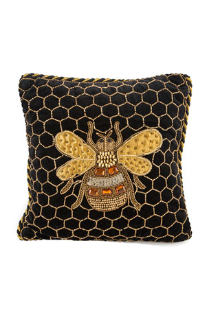 MacKenzie-Childs Queen Bee Pillow