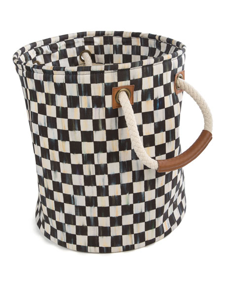 MacKenzie-Childs Courtly Check Small Storage Tote