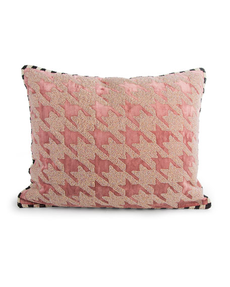 Patisserie Houndstooth Pillow