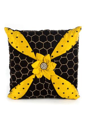 MacKenzie-Childs Honeycomb Pillow