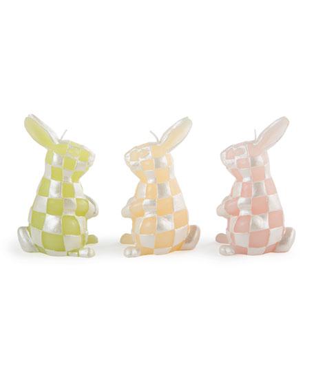 Rabbit Candles, Set of 3