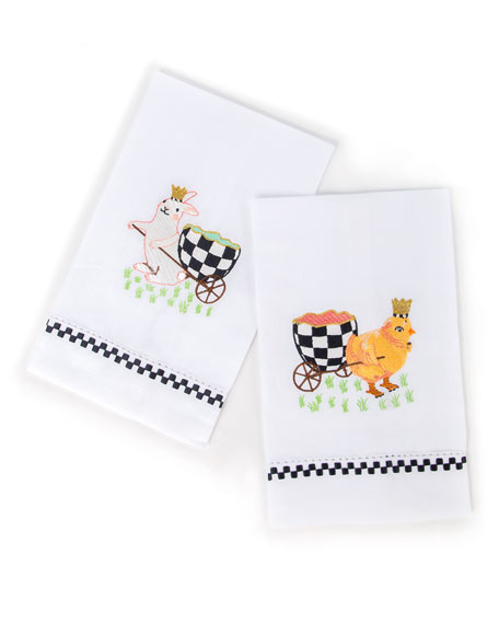 MacKenzie-Childs Egg Hunt Guest Towels, Set of 2